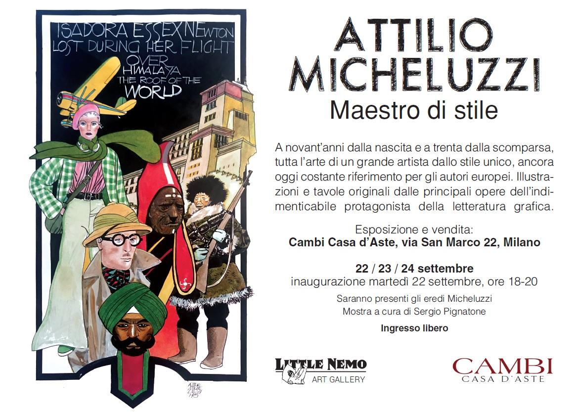 Attilio Micheluzzio, la locandina dell'evento