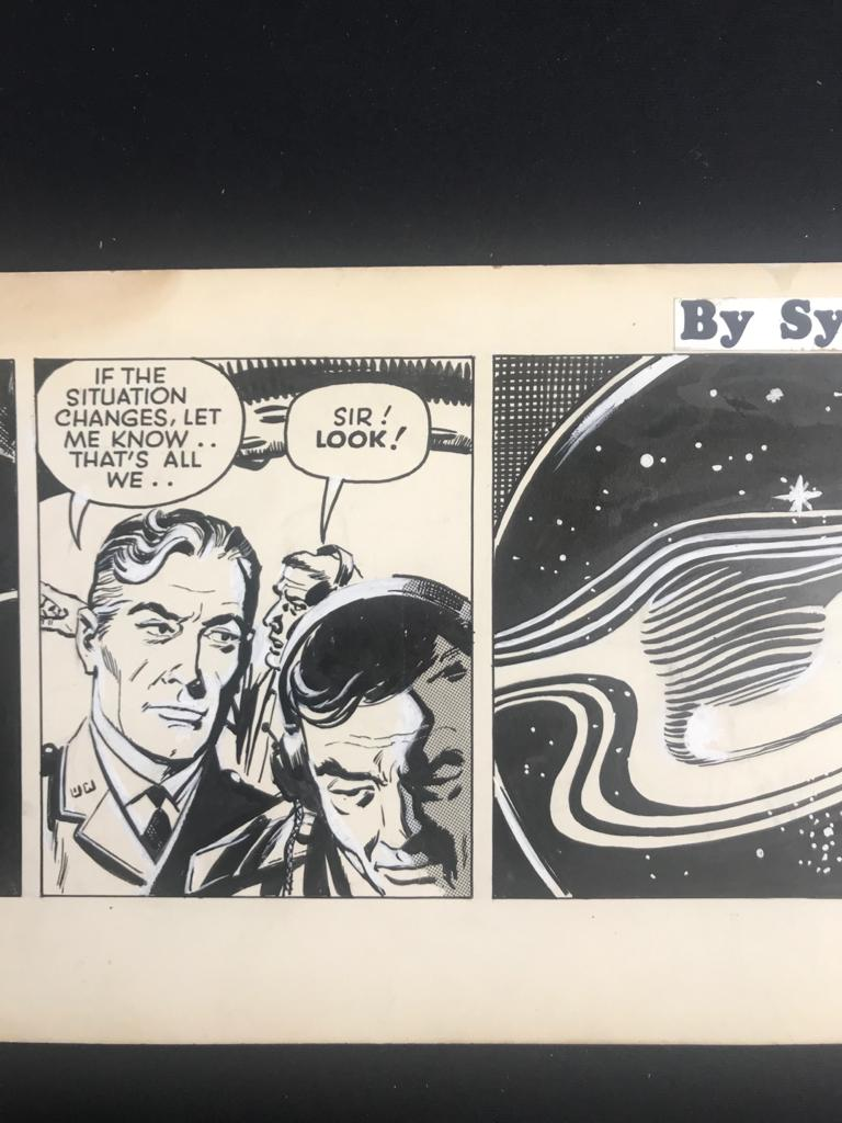 "Sydney Jordan - Original Daily Strip ""Jeff Hawke: Out of Touch"""