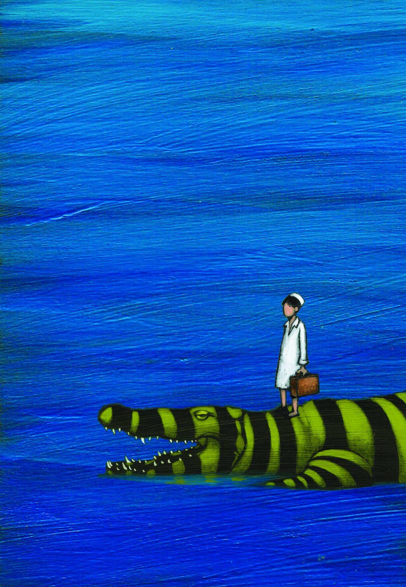 Originale Copertina Nel Mare ci sono i coccodrilli